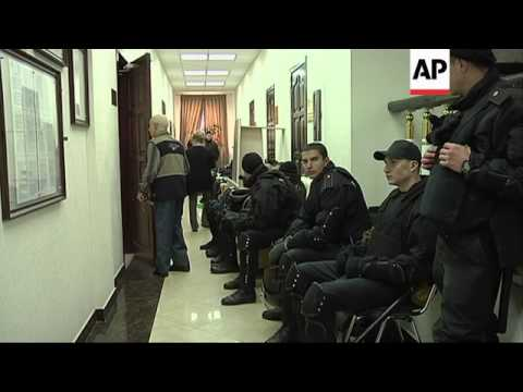 Security increased after reports pro Russian protesters tried to storm prosecutors office