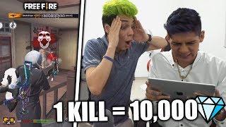 ¡LE DOY 10,000 DIAMANTES a ANTRAX por KILL en FREE FIRE! *me deja pobre*