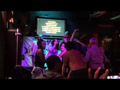 Kareoke at The Barracuda on 2/14/16 in Coconut Grove, FL