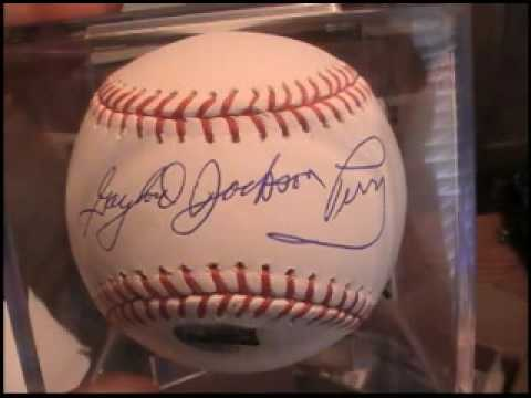 Gaylord Perry Tristar Hidden Treasures MOJO! Serious Signature Very Rare 9 of 12!!!