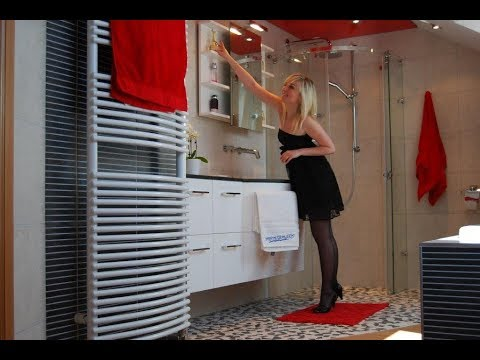 salle de bain en rouge et noir youtube. Black Bedroom Furniture Sets. Home Design Ideas
