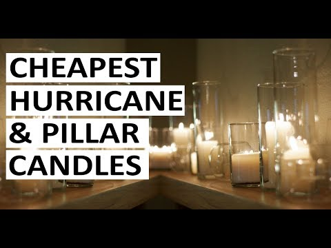 Where To Buy CHEAP HURRICANE CANDLES & PILLAR CANDLES IN CANADA & USA | Affordable Bulk Candles