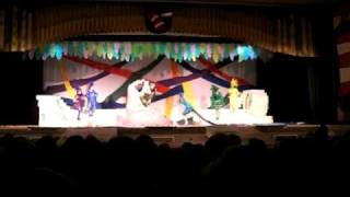 Seussical - Mayzie with cat on the piano PTHS