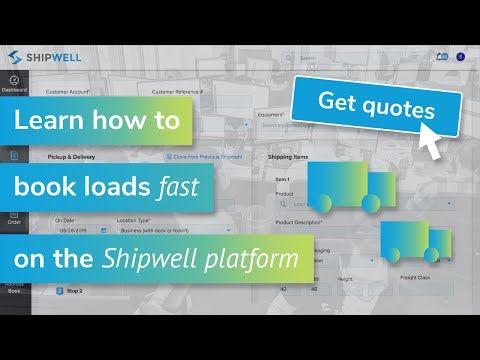 Booking FTL and LTL freight in Shipwell