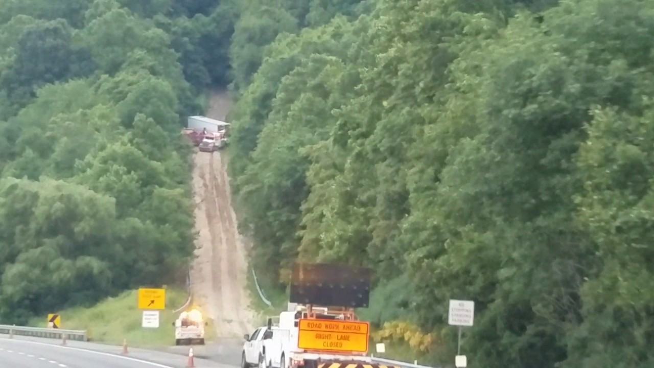 Truck on the runaway truck ramp june 15 2017 Somewhere