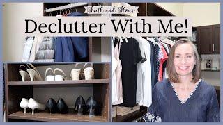 Declutter With Me | Closet Clean Out & Tour | Capsule Wardrobe Closet