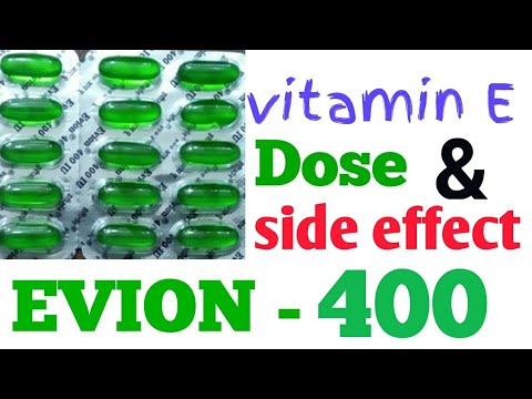 Evion 400 || dose and side effect || Vitamin E capsules  || health tips