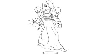 How to draw Fairies - Easy step-by-step drawing lessons for kids