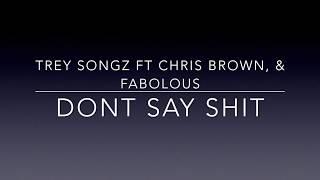 Trey Songz - Dont Say Shit ft Chris Brown and Fabulous Official Lyrics