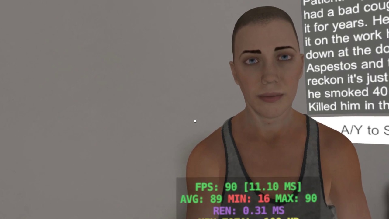 v1 Rift VoiceBot Test (Virtual Patient ChatBot) made with Unity