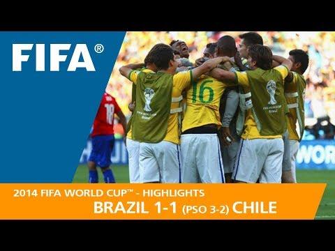 BRAZIL v CHILE (1:1 PSO 3:2) - 2014 FIFA World Cup™