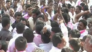 TRS Party Activists Fight in Khammam District