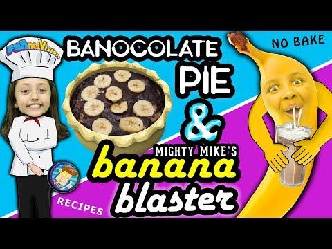 Lexi's BANOCOLATE PIE & Mike's MIGHTY BANANA BLASTER Dessert Snacks! FVKids' Recipe