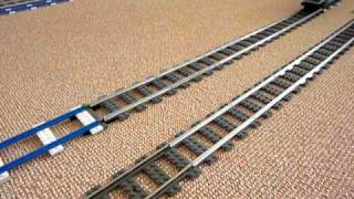 LEGO PowerFunction Train and old 4,5 V train on ME Metal Rails