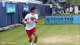 Novak Djokovic Training London 2018 - Court Level View