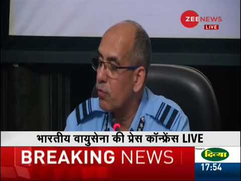 IAF addresses Press conference; shows proof of Pak F-16 being shot down during February dogfight
