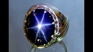 Natural Star Blue Sapphire 18.50 carats & Silver 925 ring