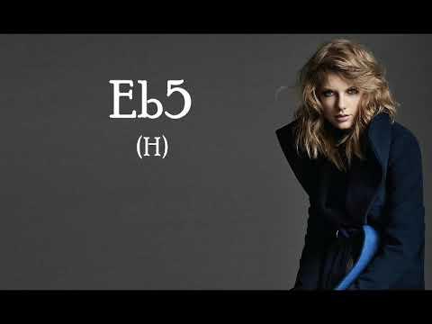 Taylor Swift - 'Reputation' Vocal Range: A2 - A5 - G5