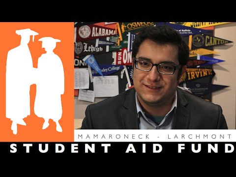 "In a ""Kevin's Story"" YouTube video, students explain how they received scholarships for college through the Mamaroneck-Larchmont Student's Aid Fund."