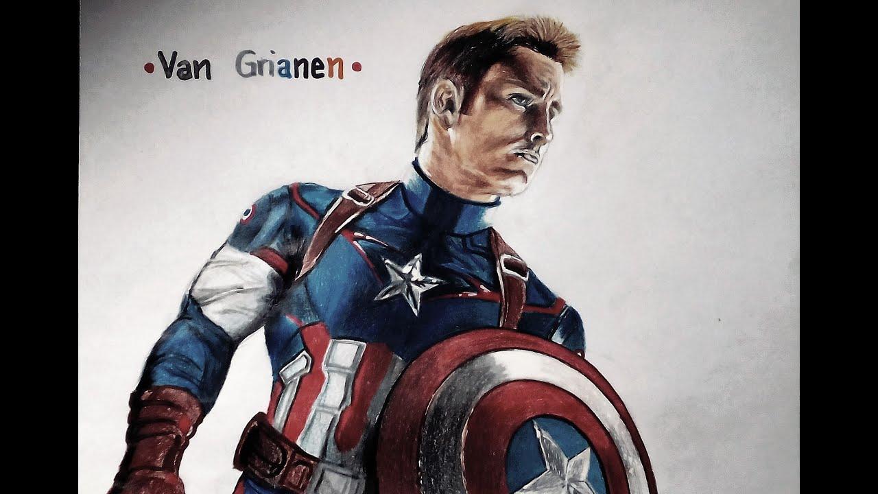 Dibujando a Capitán América - YouTube