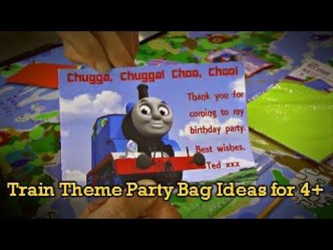 Train Theme Party Bag Ideas