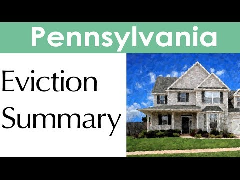 Pennsylvania Eviction Laws for Landlords and Tenants