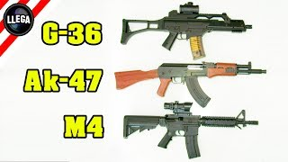 Airsoft Replicas de la G-36, Ak-47 y M4 de Iniciación - Cosas Compradas En Internet thumbnail