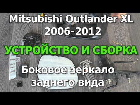 Outlander  XL Боковое зеркало заднего вида. Сборка и устройство. #OutlanderXL