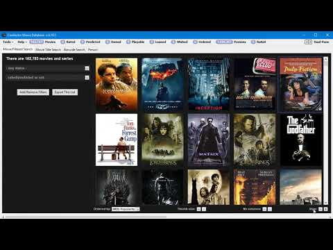 Coollector Movie Database - Adjustable Layout