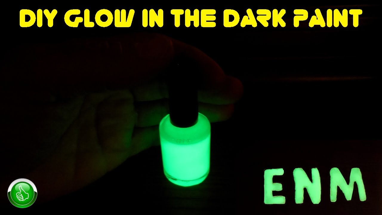 Diy Glow In The Dark Paint High Luminescence Youtube