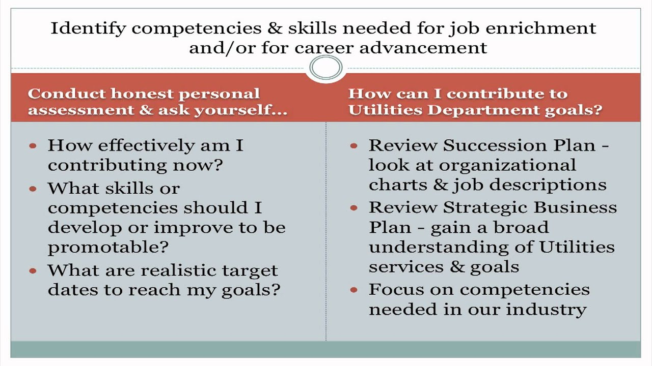 sample career development plan