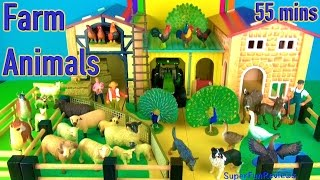 Favorite Farm Animal Toys & 3D Puzzles! Pig Sheep Llama Goat Compilation 1 (55mins)
