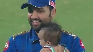 Rohit Sharma and cute daughter with photo song