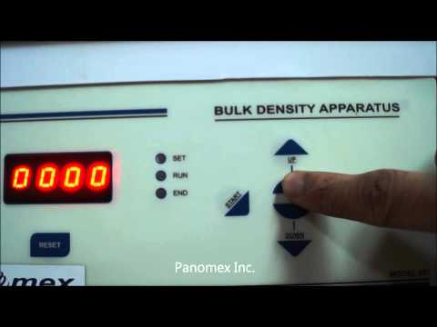 Tapped Bulk Density Apparatus