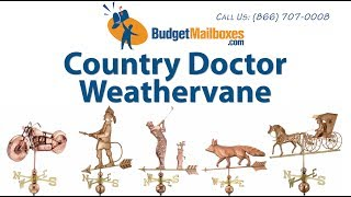 Budgetmailboxes.com | Good Directions Country Doctor Weathervane - Polished Copper