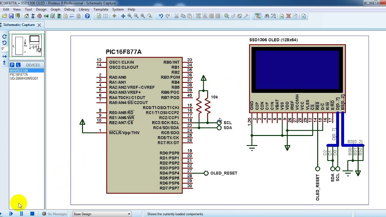 Interfacing Pic16f877a With Ssd1306 Oled Proteus Simulation Youtube Bipolar Stepper Motor Circuit