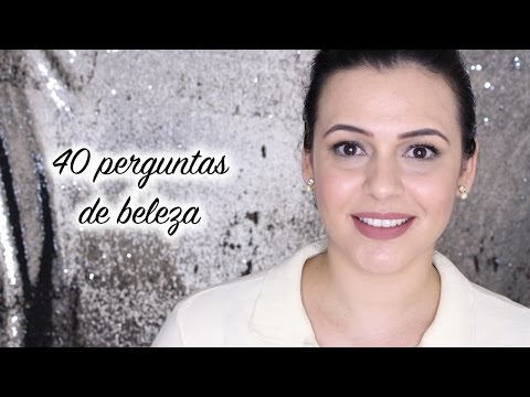 40 perguntas de beleza