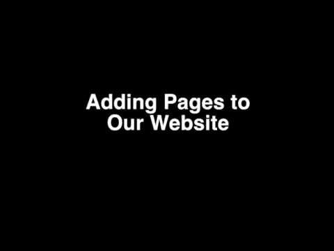 Adding Pages to our Website