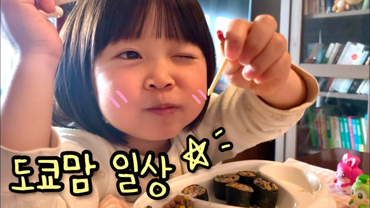 일본 브이로그⭐️ 먹방 많음 주의..!   만두 만들어 집밥 먹고 로미랑 상황극 놀이 💕
