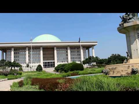 The National Assembly Building of Korea in Seoul Korea 국회의사당 여의도