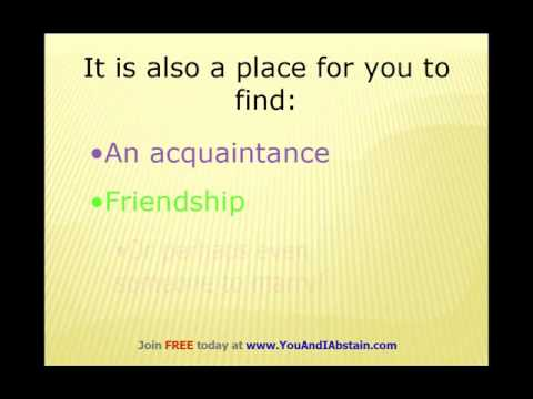 Abstinence dating site... Yes, you've found it!
