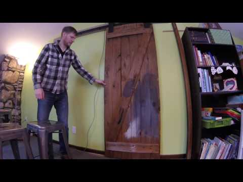 DIY - Reclaimed Wood - Artisan Hardware Aspen Barn Door Hardware Kit - Install
