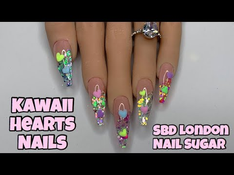 Kawaii Heart Nails | Nail Sugar