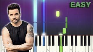 Despacito - Luis Fonsi ft. Daddy Yankee - EASY Piano Tutorial
