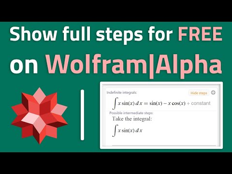 How To Show Steps For FREE In Wolfram|Alpha (legal)