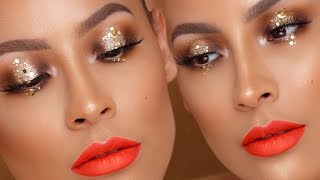 GOLD SPARKLE HALO EYE | DESI PERKINS