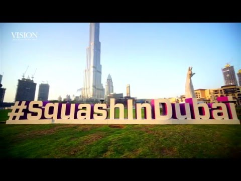 Watch the world's best squash players in Dubai!