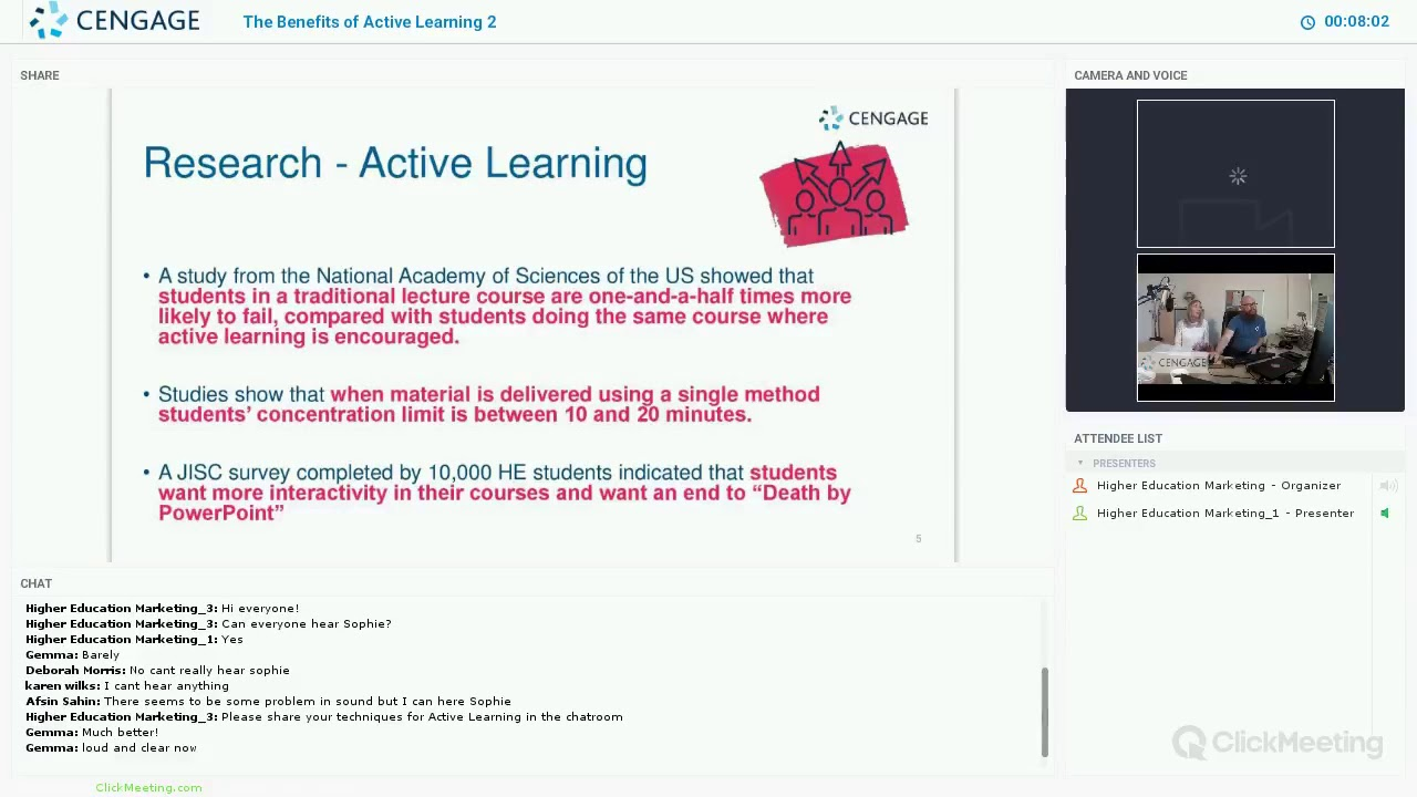 Cengage Webinar - The Benefits of Active Learning