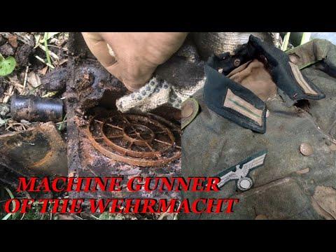 Download EXCAVATIONS OF A GERMAN MACHINE GUNNER / WWII METAL DETECTING