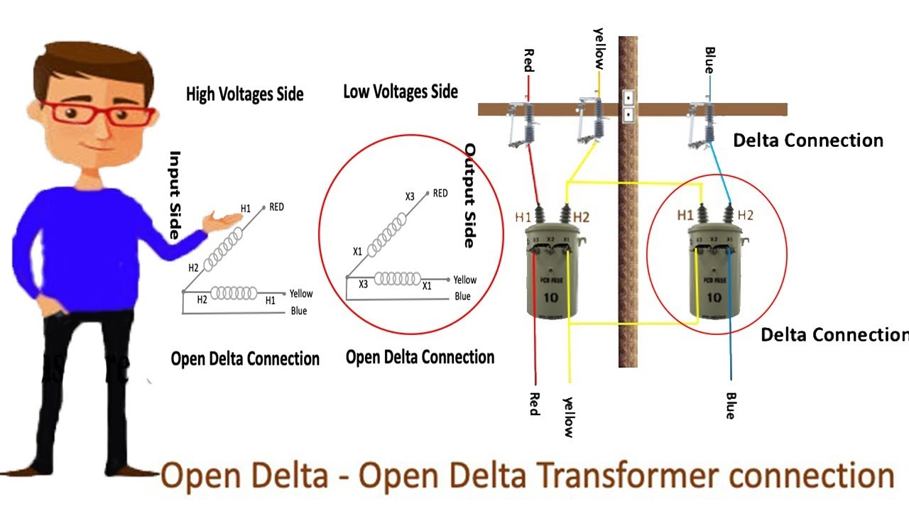[DIAGRAM_3US]  Open Delta - Open Delta Transformer connection | Delta Delta | Transformer  | 1 phase Transformer - YouTube | Delta To Delta Wiring Diagram |  | YouTube
